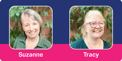 Enquiry Support Team Members Suzanne and Tracey